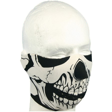 Neoprene Half Skull Face Mask