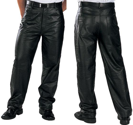 Men's Classic Loose Fit Leather Pants