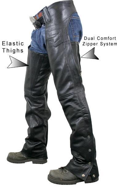 Men's Advanced Dual Comfort System Leather Chaps