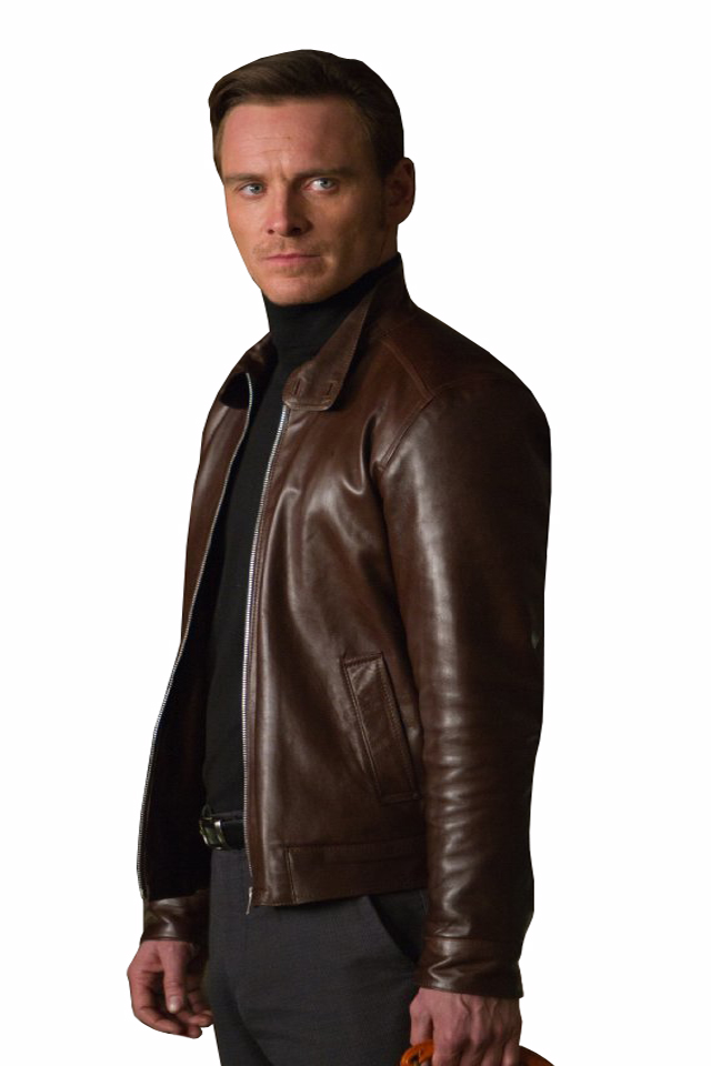 X Men First Class Magneto Brown Leather Jacket   Charlie London - Leather Jackets for Men and Women - FREE UK DELIVERY