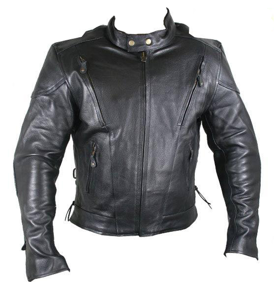 Naked Cowhide Leather with Advanced Armored Motorcycle Jackets