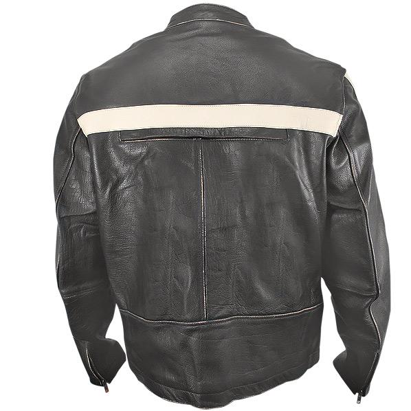 Mens Brown Leather Motorcycle Jackets Men's dark-brown vintage