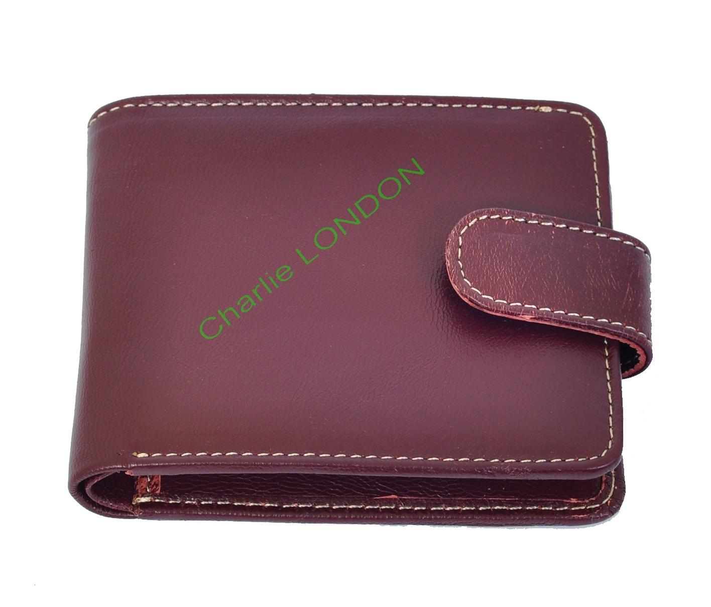 Men's Burgundy Genuine Leather Wallet