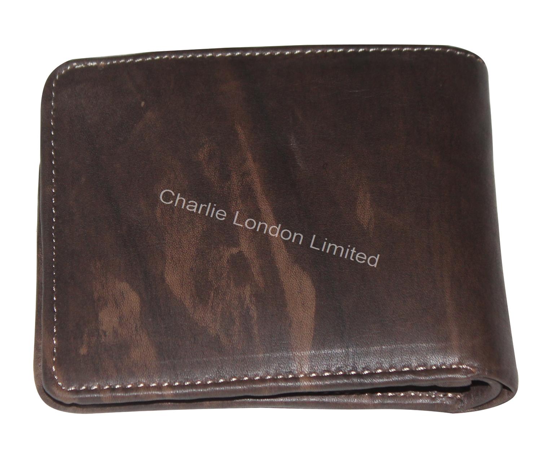 Men's Vintage Brown Bifold Genuine Leather Wallet