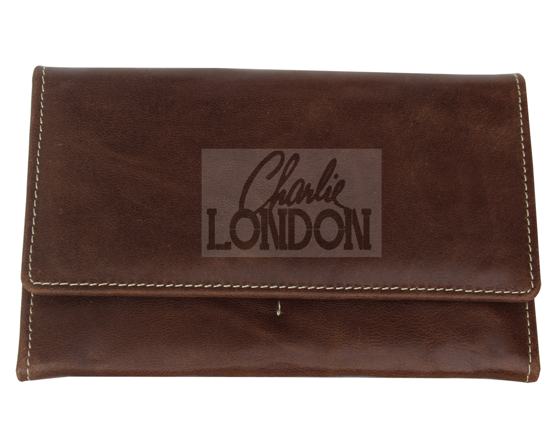 Rich Brown Premium Collection Leather Purse Wallet