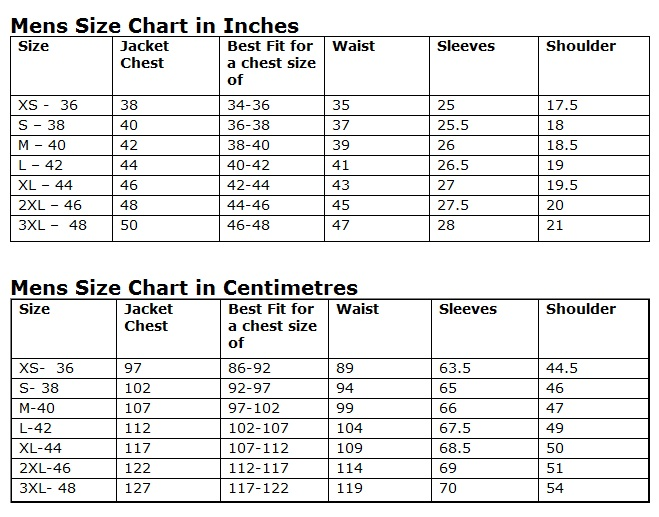 Size Guidelines Charlie London Leather Jackets For Men And Women
