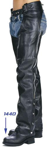 Unisex Classic Motorcycle Leather Chaps