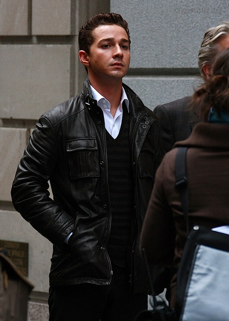 Wall Street Shia La Beouf Leather Jacket