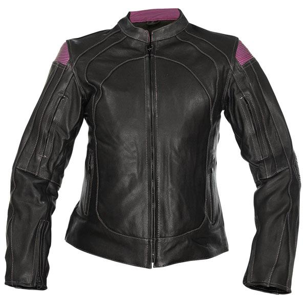 Women's Rally Black/Purple Motorcycle Jacket