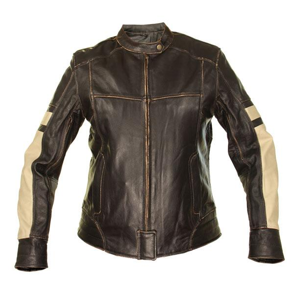 Women's Brown Leather Cruiser Motorcycle Jacket