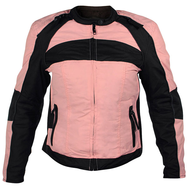 Women's Armored Pink Fabric Jacket
