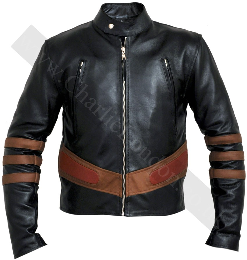X Men 2 United Black Leather Jacket