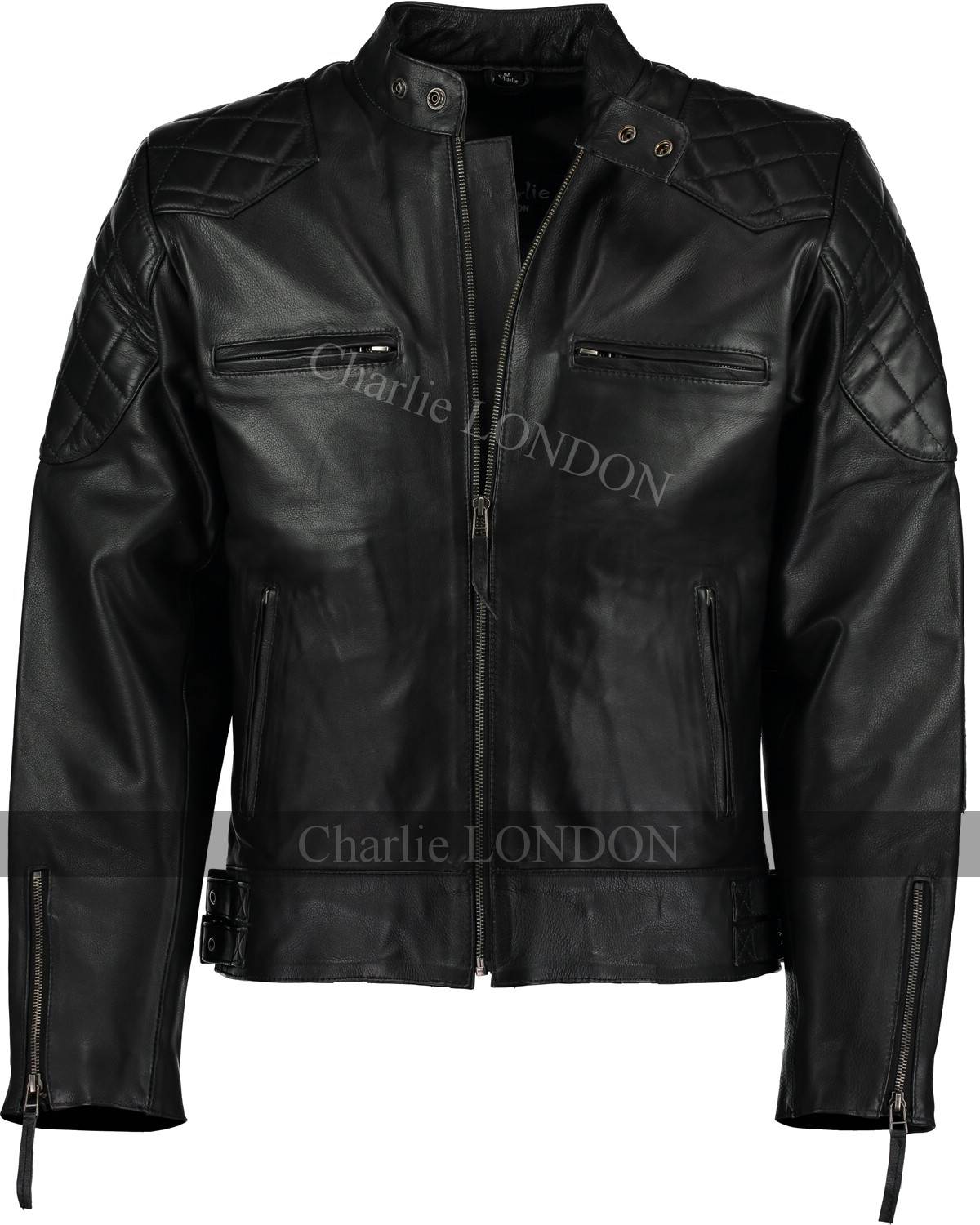 David Beckham Black Stannard Leather Jacket