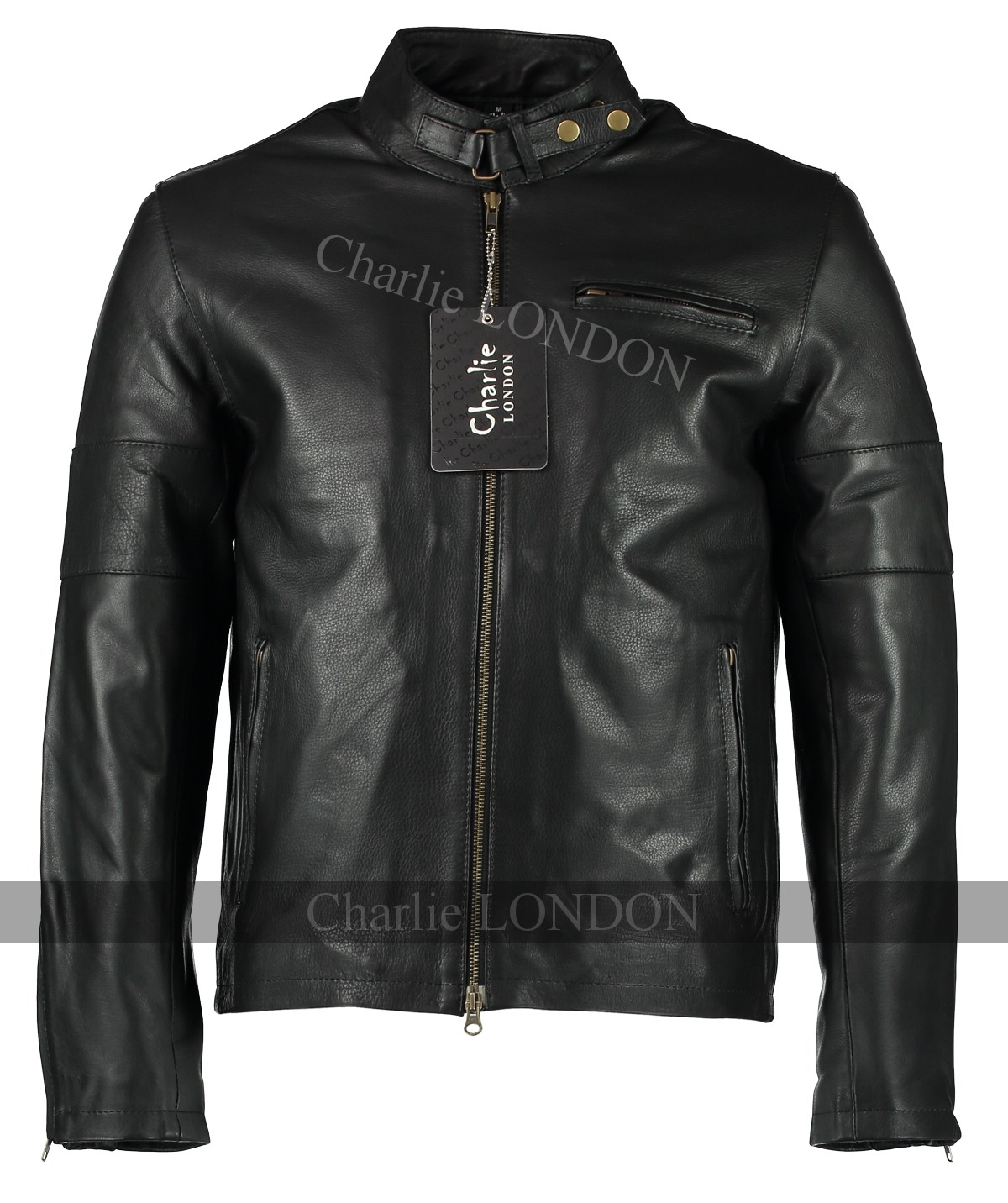 Mens Daytona Black Leather Jacket