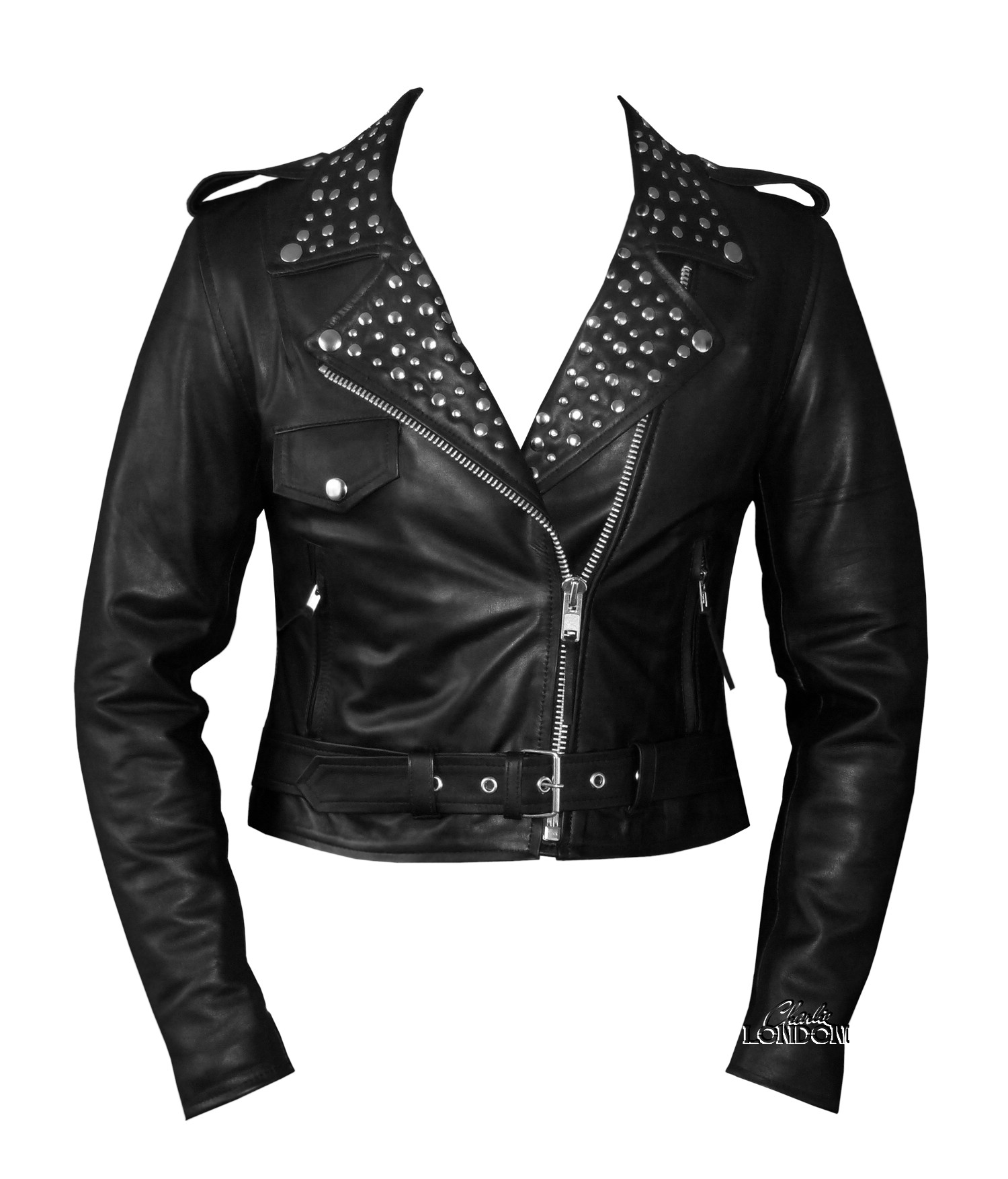 Women's Fashion Leather Jacket | Charlie London - Leather Jackets ...