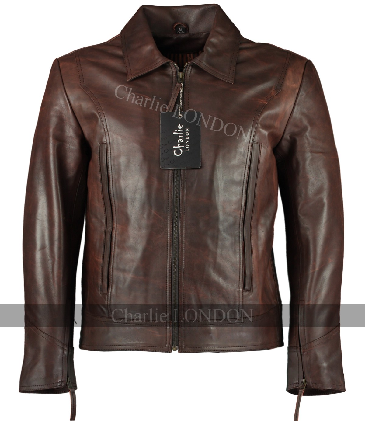 Logan X-Men Wolverine Vintage Brown Leather Jackets