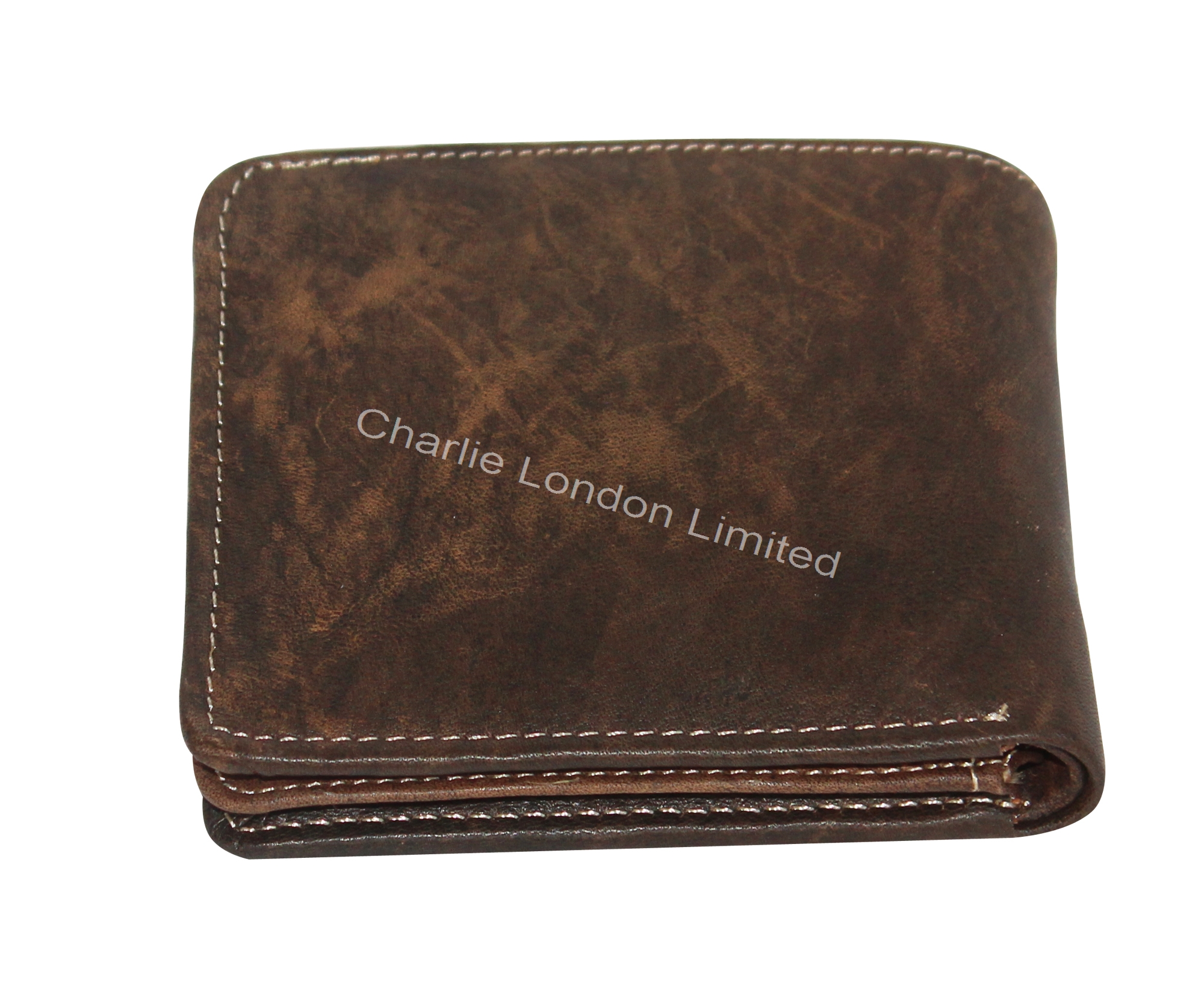Men's Vintage Brown Premium Leather Trifold Wallet
