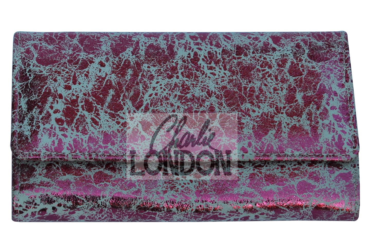 Pink Metallic Essence Collection Leather Purse Wallet