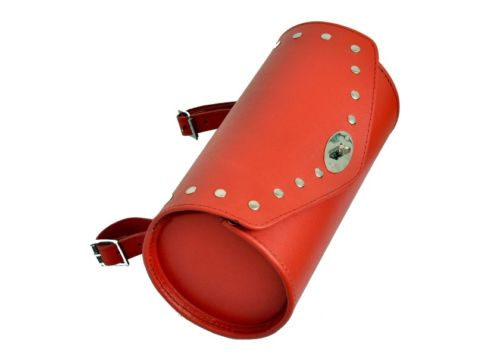 Red Leather Motorcycle Tool Bag