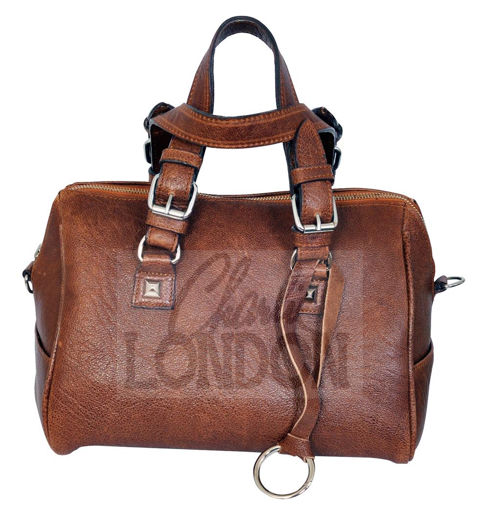 Classic Brown Women's Leather Handbag Charlie