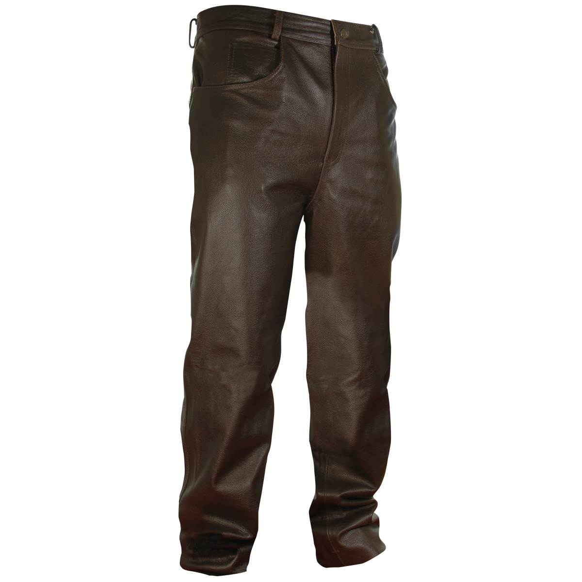 Classic Fit Brown Men's Leather Pants