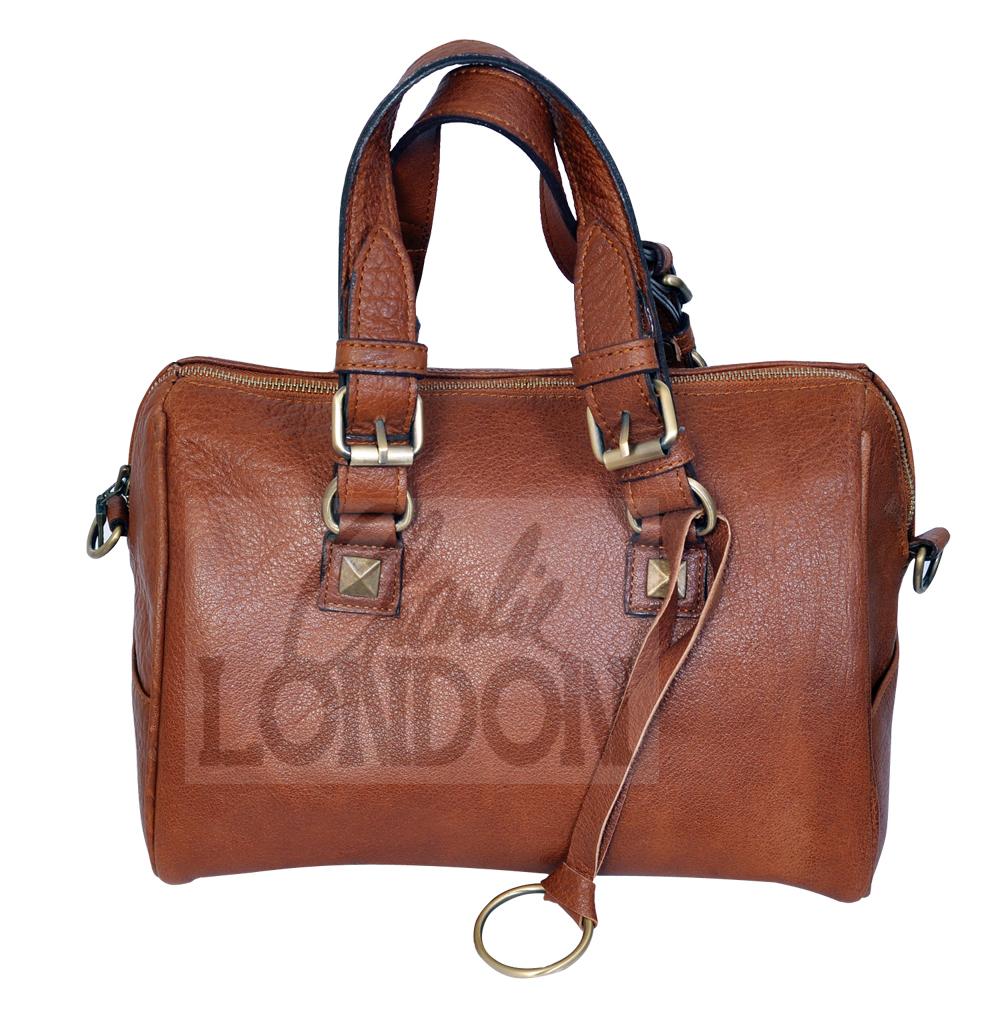 Dark Tan Women's Genuine Leather Handbag