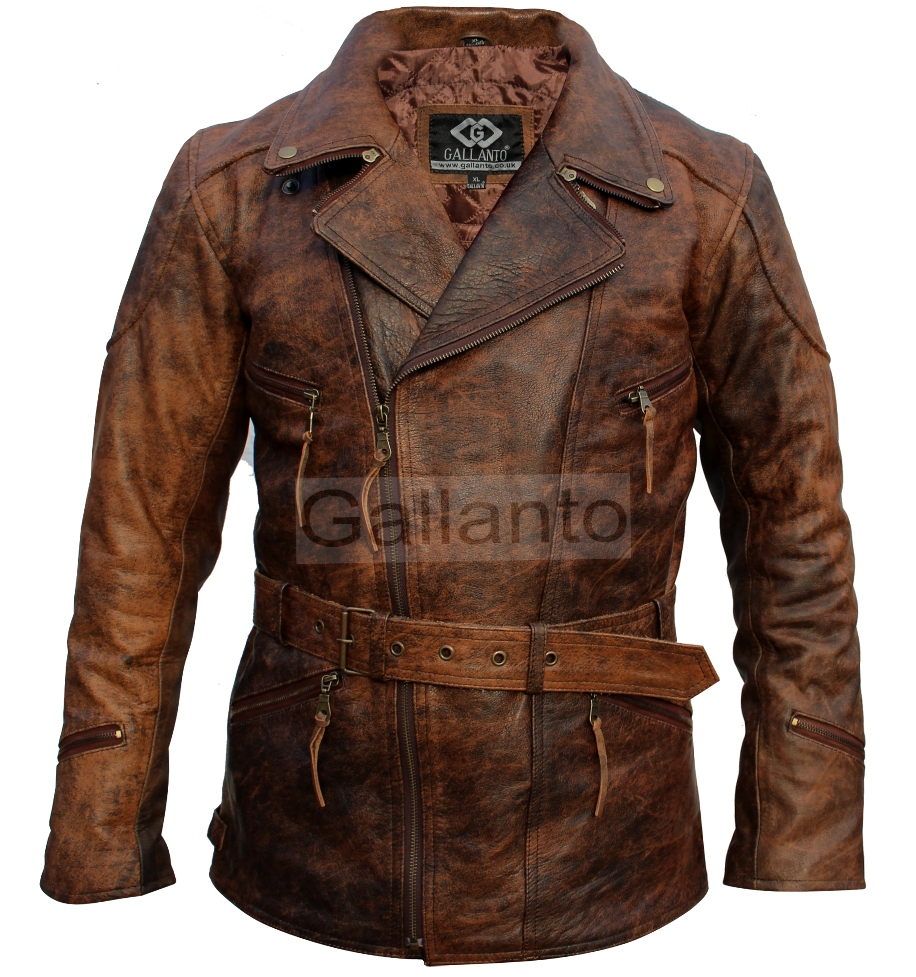 afd6ac3d7 3/4 Eddie Brown Vintage Motorcycle Biker Jacket | Charlie London ...