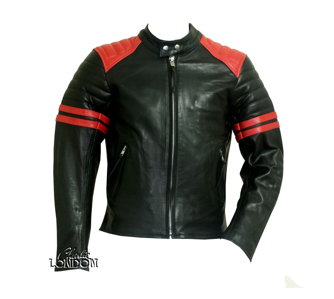 Fight Club Mayhem Black Leather Jacket