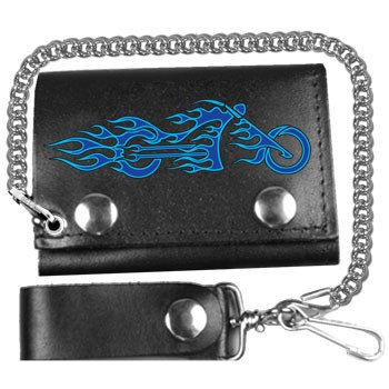 Fire Bike Leather Wallet