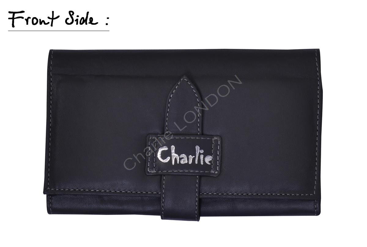 Women's Grey Charlie London Genuine Leather Purse Wallet