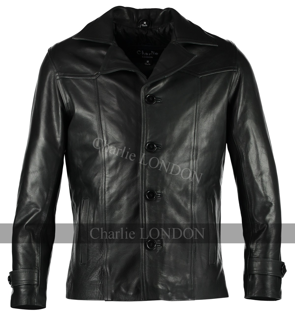 Mens Heist Black Leather Jacket Coats