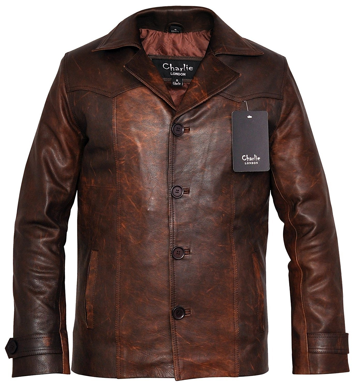 Heist Antique Vintage Brown Leather Jacket