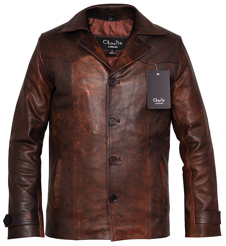 Heist Antique Vintage Brown Leather Jacket