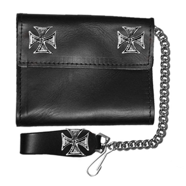 Iron Cross Leather Wallet