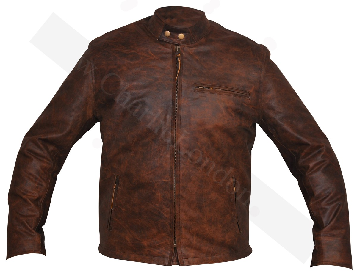 Belted Biker Leather Jackets | Charlie London - Leather Jackets ...