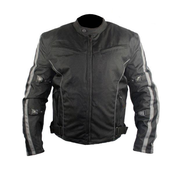 Men's Black and Gray Vented Level-3 Armored Fabric Jacket