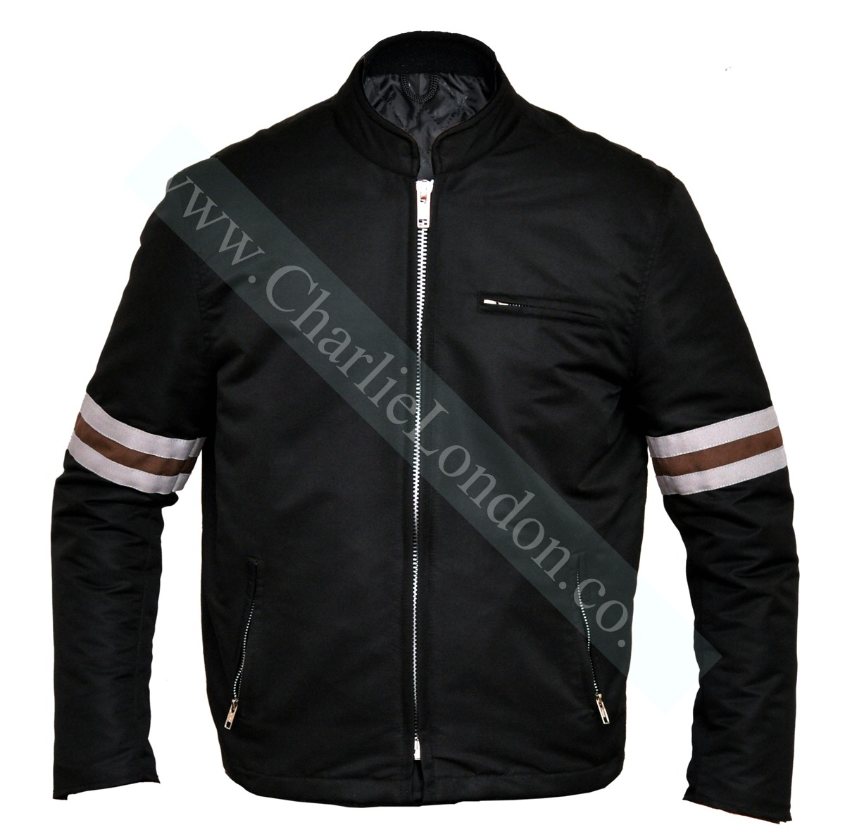 Classic Mens Designer Striped Jacket