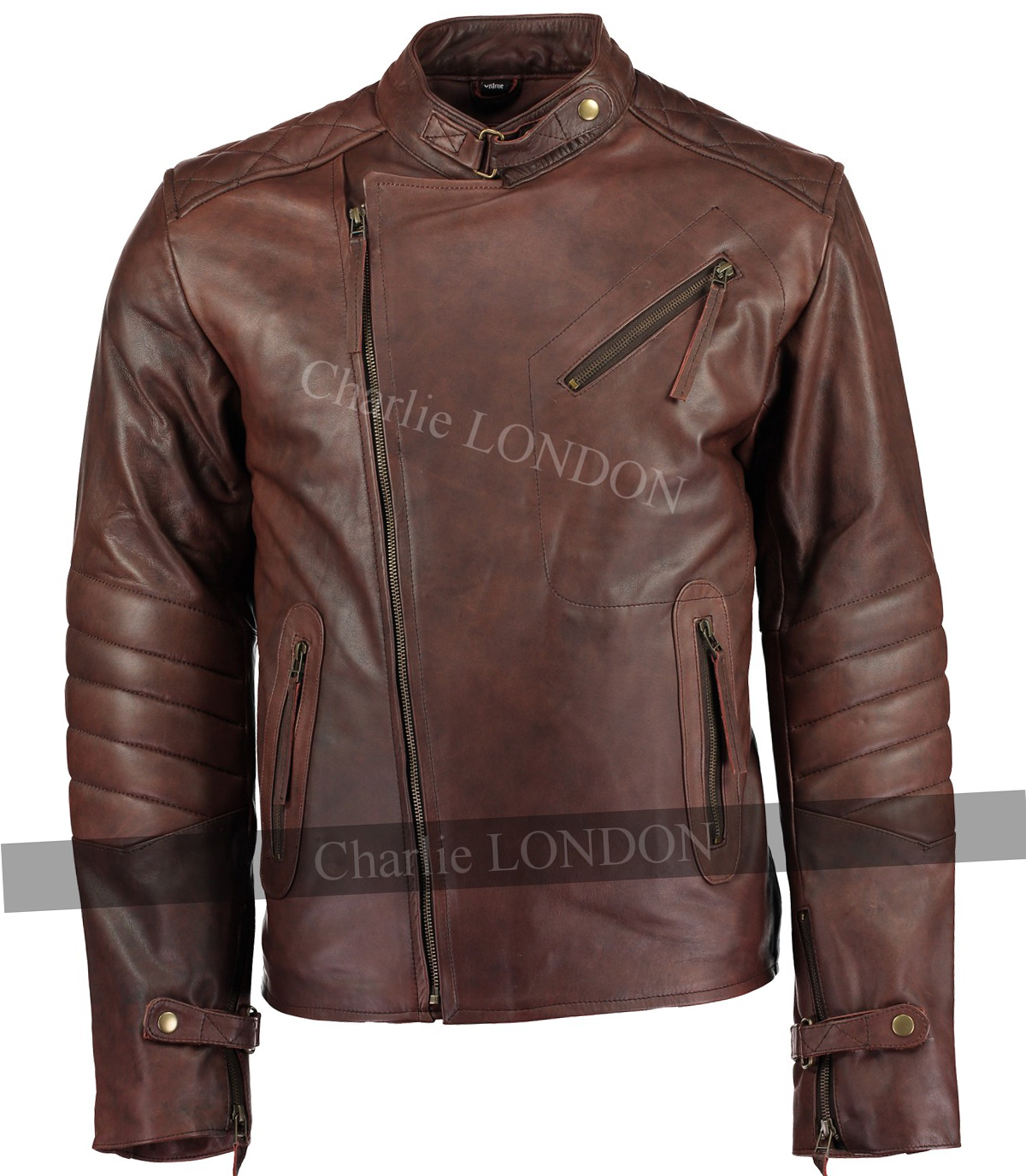 Mens Kendal Vintage Brown Leather Jacket
