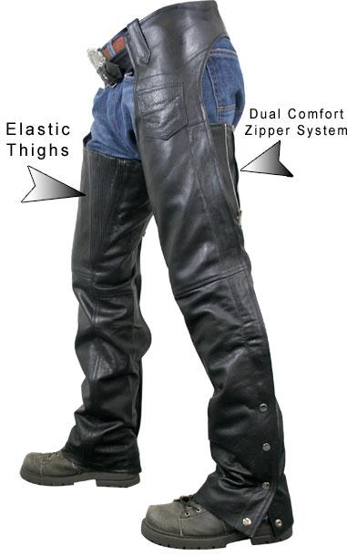 Men's Advanced Dual Comfort System Leather Chaps