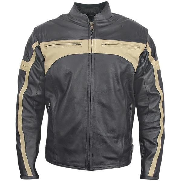 Men's Armored Leather Motorcycle Jacket