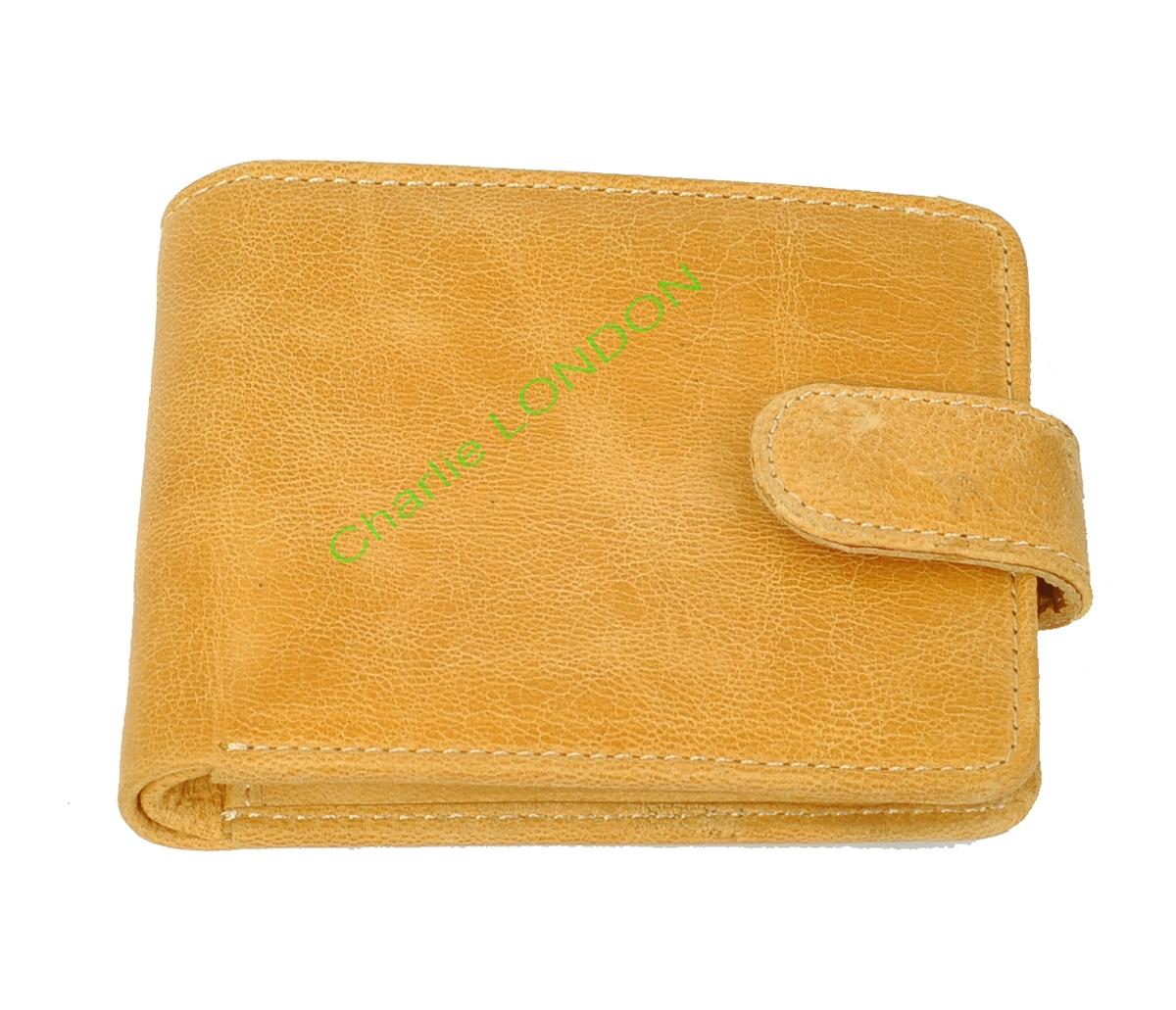 Glazed Tan Genuine Leather Wallet