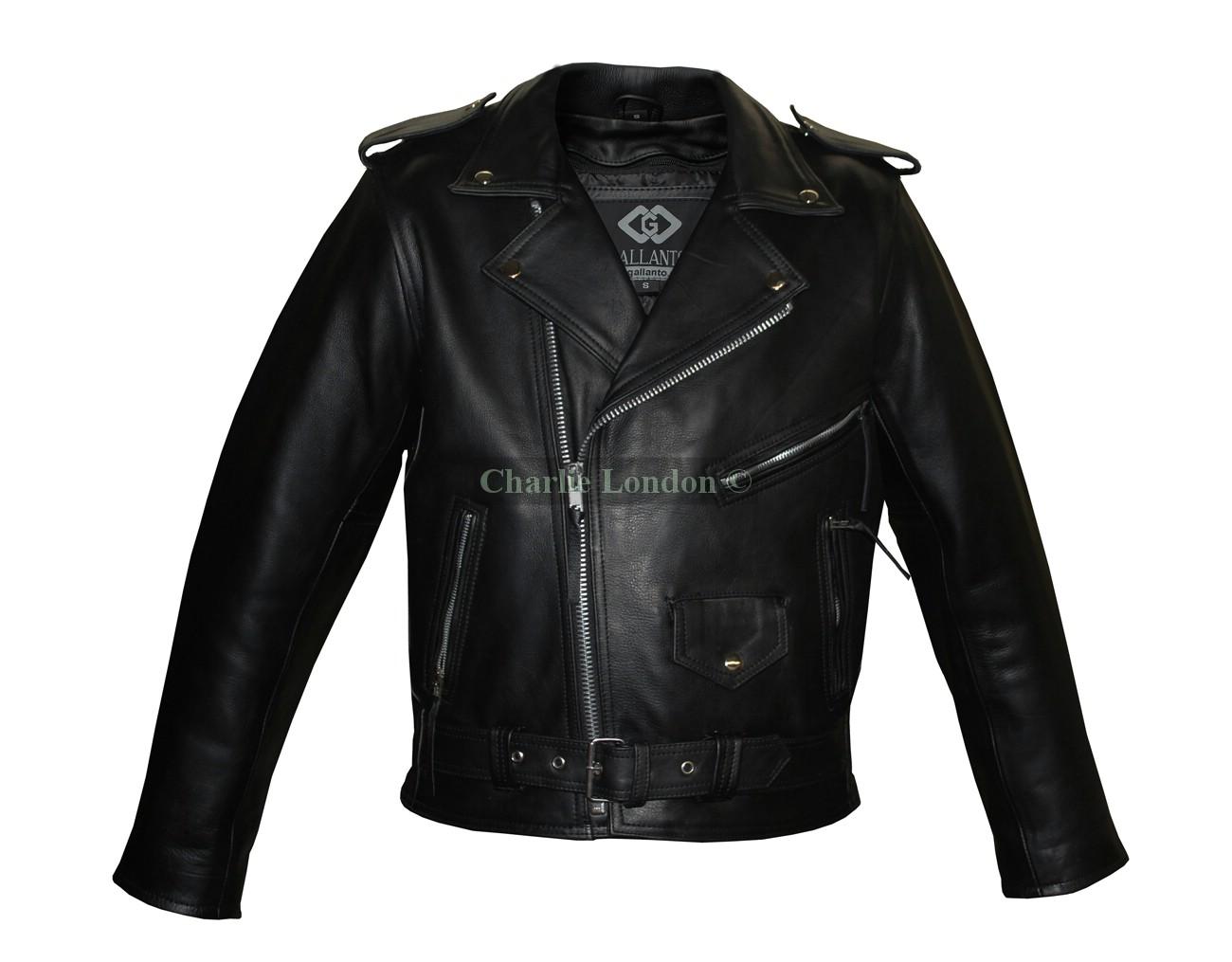 Naked Cowhide Belted Brando Motorbike Jacket