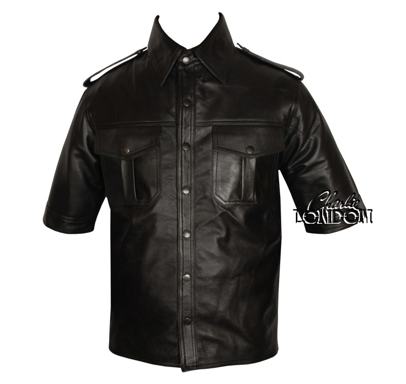 Police Style Half and Full Sleeve Classic Leather Shirt
