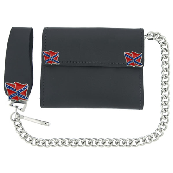 Rebel Flag Leather Wallet