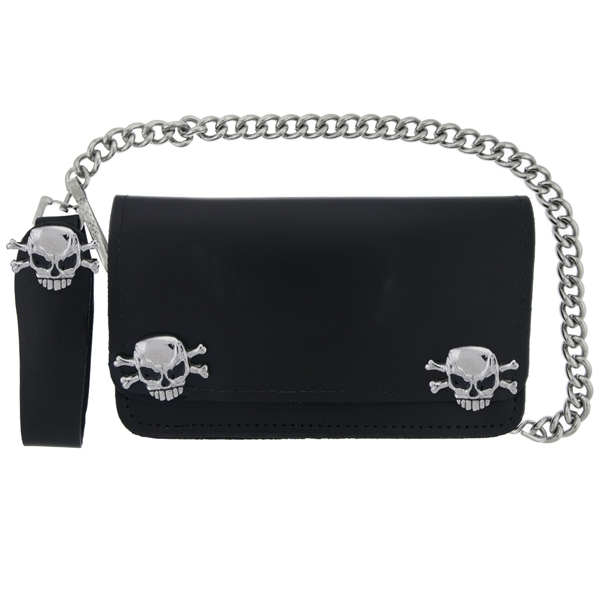 Skull and Bones Medallion Wallet