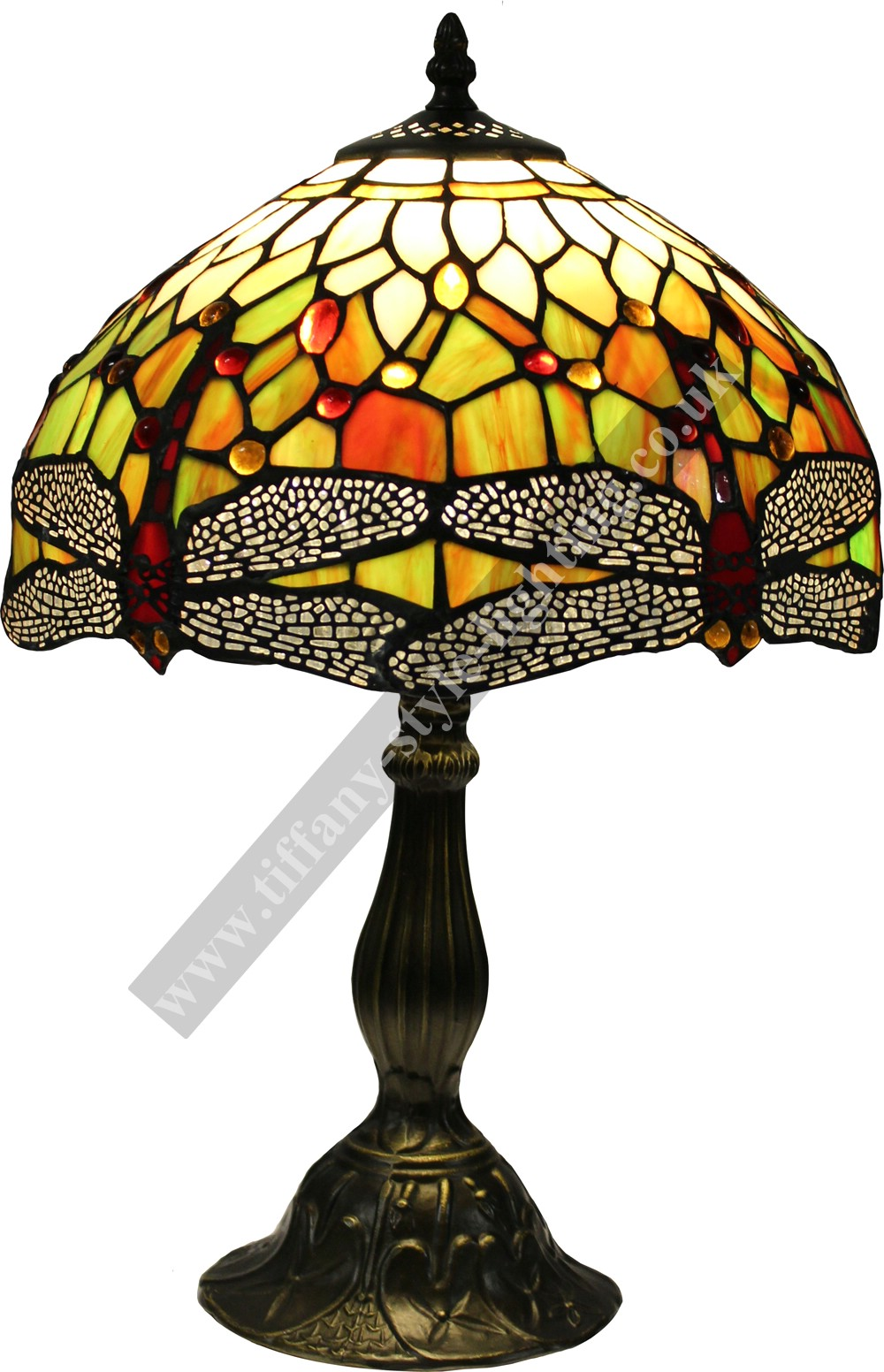 Dragonfly Tiffany Style Handcrafted Table Lamp