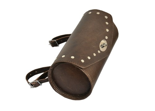 Retro Brown Leather Motorcycle Vintage Tool Bag