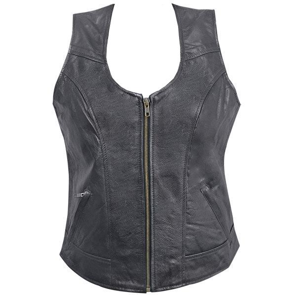 Women's Biker Leather Vest