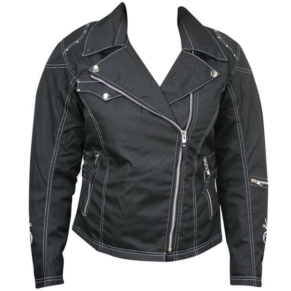 Womens Armored Waterproof Black Textile Motorcycle Jacket