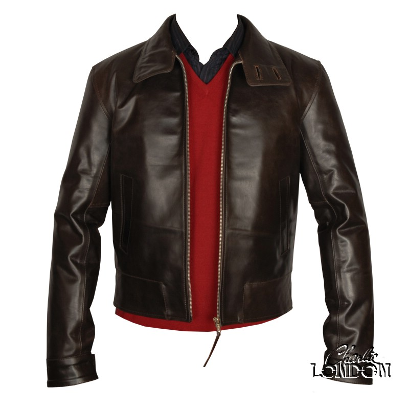 X Men First Class Magneto Brown Leather Jacket